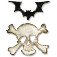 Tim Holtz Alterations Movers & Shapers - Mini Bat & Skull Set