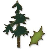 Tim Holtz Alterations - Movers & Shapers Mini Pine Tree & Holly Die Set
