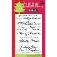 Hero Arts - Christmas Sentiments Stamp Set