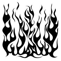 The Crafters Workshop - Mini Flames Stencil