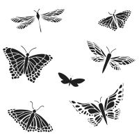 The Crafters Workshop - Mini Mariposas (Butterflies) Stencil