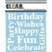Clear Scraps - Wishes Stencil  -