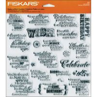 Fiskars - Make A Wish Quote Stamp Set