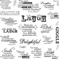 Fiskars - Laugh With Me Quotes Stamp Set