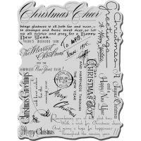 Stampendous - Christmas Background Stamp