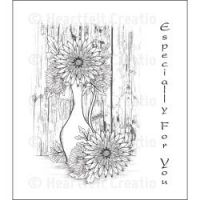 Heartfelt Creations - Delicate Aster Vase Precut Stamp Set