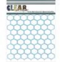 Clear Scraps - Chicken Wire  Stencil  -