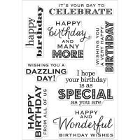 Hero Arts - Many Birthday Messages Clear Stamp Set