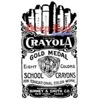 Deep Red - Crayola Crayons Stamp  -