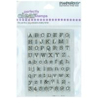 Stampendous - Small Typewriter Alphabet Stamps