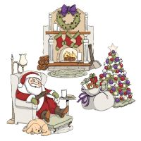 Art Impressions - Sleepy Santa Try'Fold Stamp Set