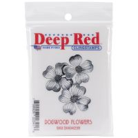 Deep Red - Dogwood Flowers Stamp  -