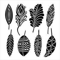 The Crafters Workshop - Mini Fancy Feathers Stencil