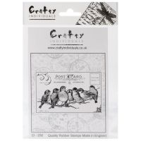 Crafty Individuals - Seven Cheeky Songbirds Unmounted Stamp