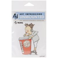 Art Impressions Unmounted AI People - Cathy Caffeine
