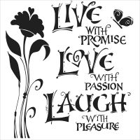 The Crafters Workshop  - Mini Live, Love, Laugh Stencil