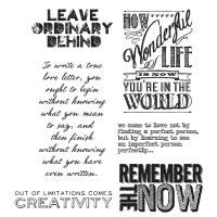 Tim Holtz Stampers Anonymous - Random Quotes