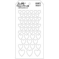 Tim Holtz Stampers Anonymous - Hearts Stencil
