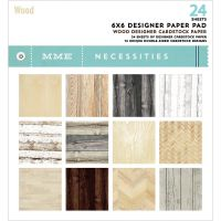 My Minds Eye Necessities -  6x6 designer paper pad Wood