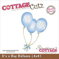 Cottage Cutz - It's A Boy Balloons Die