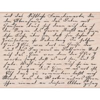 Hero Arts - Old Letter Writing Script Stamp