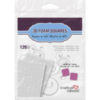 Scrapbook Adhesives/3L - 3D .5 x .5 White Foam Squares  ^