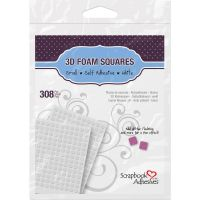 Scrapbook Adhesives/3L - 3D Foam Squares .25 x .25 White  ^