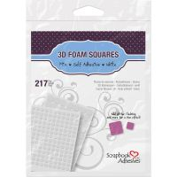Scrapbook Adhesives - 3D White Form Squares Mixed Sizes  ^