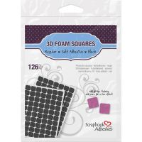 Scrapbook Adhesives 3D Form Squares - Black .50x.50  ^