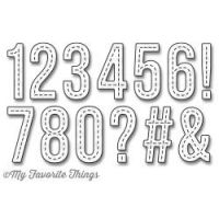 My Favorite Things - Stitched Numbers by Die-Namics