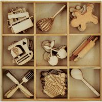 Kaisercraft - Wooden Flourish Pack - Cooking