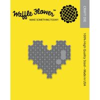 Waffle Flower Craft Die - Cross Stitch Heart  ~