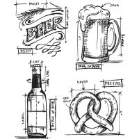 Tim Holtz Stampers Anonymous - Beer Blueprint Stamp Set