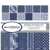 Reminisce - Shades of Indigo 12x12 paper pack