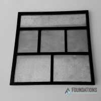 Foundations Decor - Magnetic Shadow Box Frame - Black