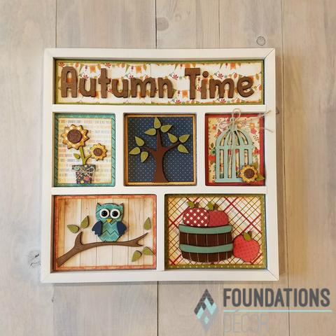 Foundations Decor Autumn Time Shadow Box Kit