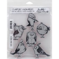Tim Holtz Stampers Anonymous Bird Crazy Stamps