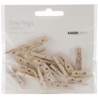 KaiserCraft - Tiny Wooden Peg Clothespins
