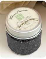 Melissa Frances - Glass Glitter - Black  ~