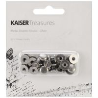 KaiserCraft Treasures - Metal Drawer Knobs - Silver
