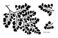 Designs by Ryn - Maidenhair Fern Laser Cut Mylar Stencil
