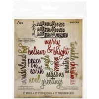 Tim Holtz - Alterations - Holiday Words: Script  -