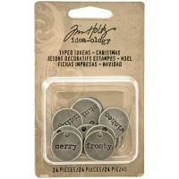 Tim Holtz Idea-ology - Typed Tokens - Christmas  -