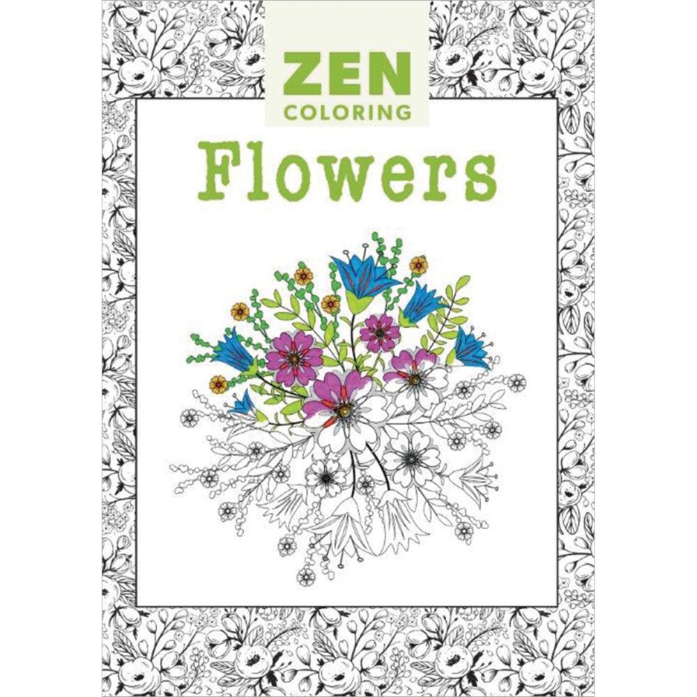 Zen coloring flowers - Zen Coloring Flowers 9