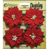 Petaloo Darjeeling Collection - Medium Paper Poinsettias