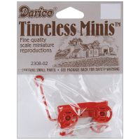 Darice Red Metal Wagon