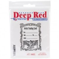 Deep Red ATC Angel Cling Stamp