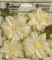 Petaloo Textured Elements - Textured Ivory Poinsettias
