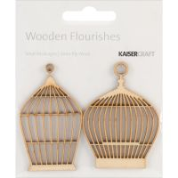 Kaisercraft - Small Birdcages Wooden Flourishes