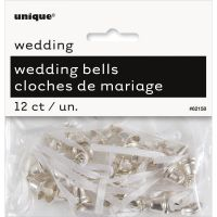 Unique - 12ct Silver Wedding Bells or Mini Church Bells